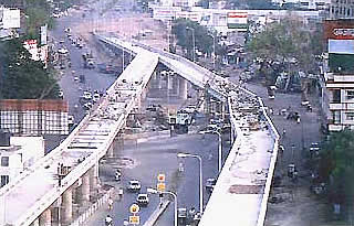 Construction of Flyover Bridge at Athwagate Junction Surat.
