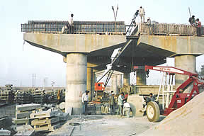 Construction of Road over Bridge on Borkhera Anantpura Bypass Road at Kota.