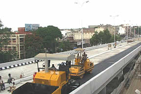 Construction of Flyover at Chhawani Circle at Kota, Rajasthan.