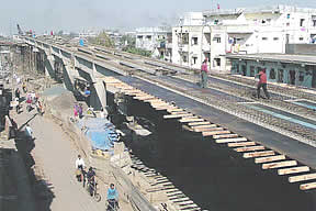 Construction of Road over Bridge near Railway Culvert No. 436 on Dindoli Udhna Industrial Estate Road, Surat.
