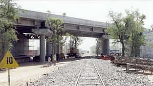 Design and Construction of six lane ROB in lieu of L.C. No. 4A on Kalol Katosan MG Railway on Ahmedabad Mehsana Road Project. (in JV)