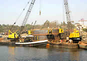 Construction of Panvel Creek Bridge (Foundation and Substructure).