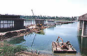 Construction of high level bridge across river Tapti near Nana Varachha, Surat