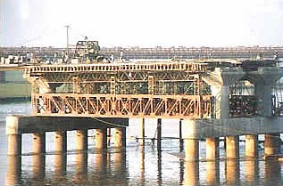 Construction of low level Submersible Bridge on River Tapti SURAT