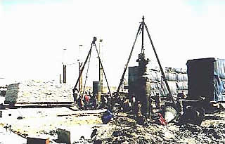 Construction of Bored Pile foundation, Pile cap Booster Pump house foundation for Kandla Bhatinda pipeline project for I.O.C. at Kandla.