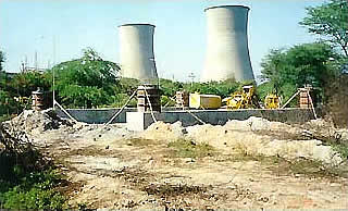 Design and Construction of Bored type pile foundation for 220KV Gandhinagar - Jamla Transmission line in river Sabarmati near Gandhinagar Power house.