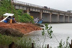 Construction of Sharavati River major bridge at Honnavar in the state of Karnataka.